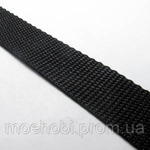 Ременная лента стропа 25мм  черная  20 метров  6345