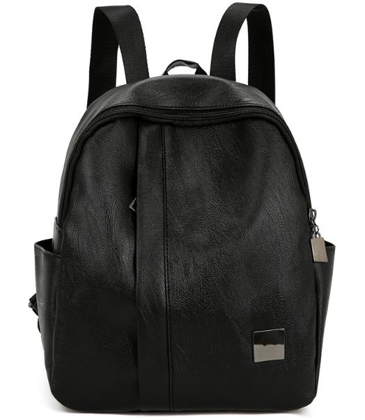 Рюкзак чёрный женский кожзам