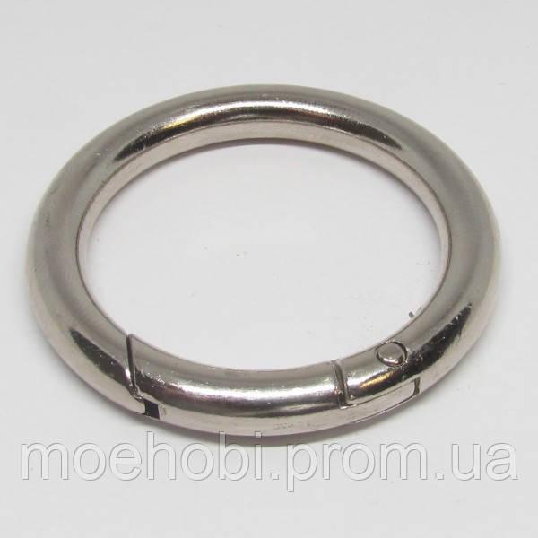 Кольцо-карабин (34мм) никель,  артикул модели  5199