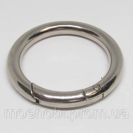 Кольцо-карабин (34мм) никель,  артикул модели  5199, фото 2