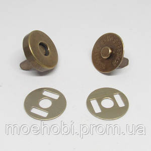 Кнопки магнитные (14мм) Антик, упаковка 50шт артикул модели 5002