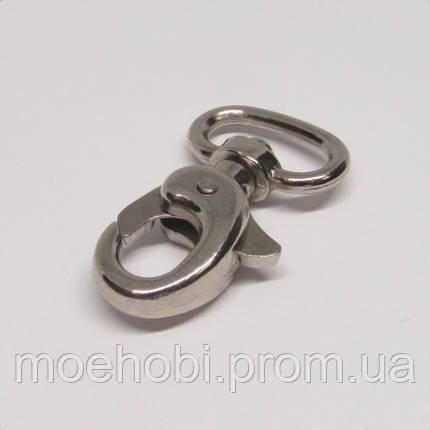 Сумочный карабин (13мм) никель, Розница от 1шт/ ОПТ от 10 / артикул модели  4066, фото 2