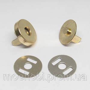 Кнопки магнитные (14мм) Золото, упаковка 50шт артикул модели  5002