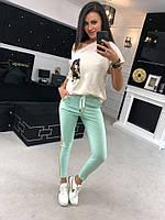 Женский спорт костюм с футболкой и пайеткой tez7105596