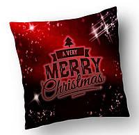 Текстильная подушка. Новый год. Ручная работа!