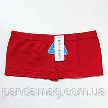 Трусики женские шорты бесшовные красный