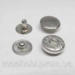 Кнопки Альфа №54 (12.5мм) Никель, упаковка 50шт артикул модели  5128