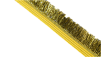 Тесьма бахрома 20 мм с золотом