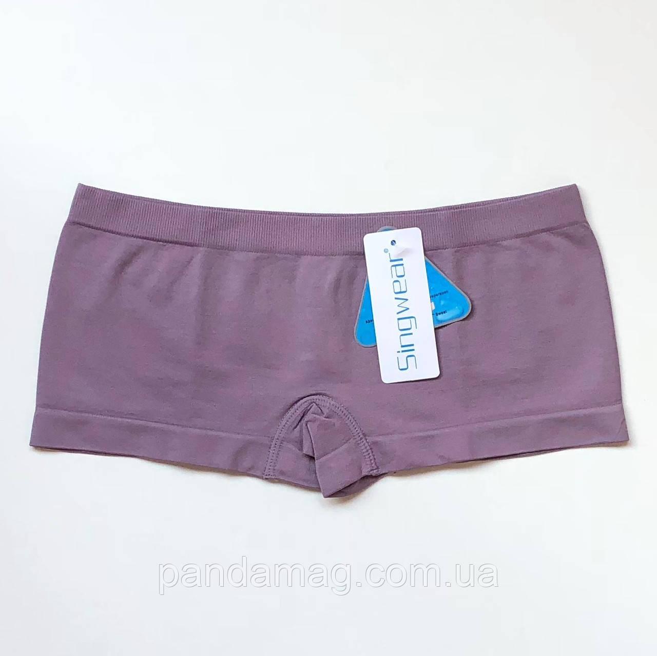 Трусики женские шорты бесшовные пепельно-розовый