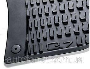 Комплект оригинальных ковриков салона Audi Q7 (4L) черные (4L1061501041)