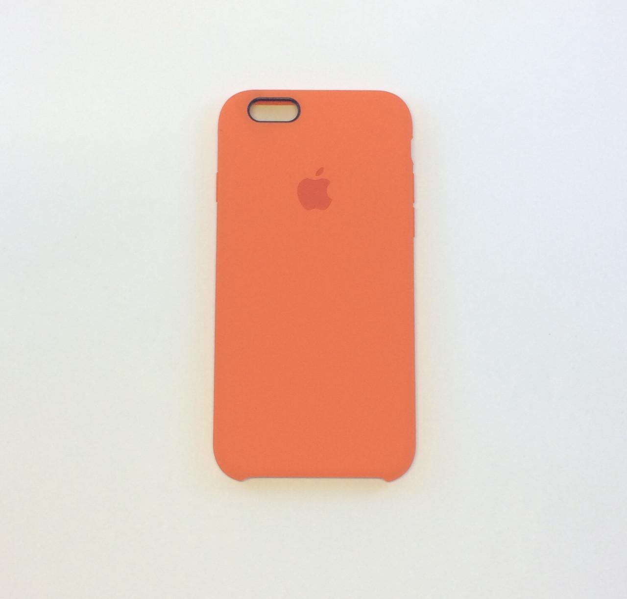 Чехол для iPhone 6/6s, сочный персик, силикон, copy original