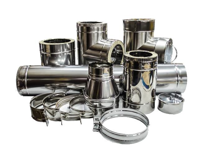 Дымоход из нержавейки: колени, тройники, конусы. Трубы 0,5 мм нержавеющей стали с оцинковкой