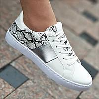 Кроссовки кеды женские белые удобные модные (код 757) - жіночі кросівки кеди білі модні зручні