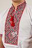 Вышиванка мужская Федор красный короткий рукав, фото 4