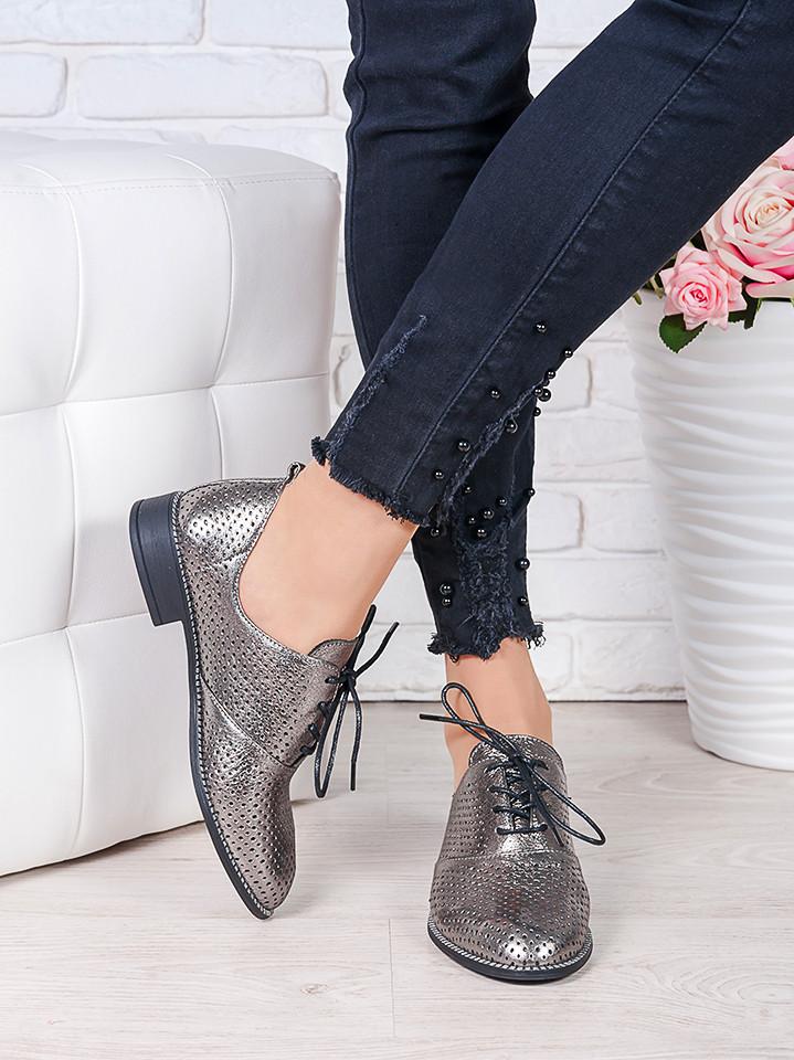 51da1f156 Туфли кожаные сатин с перфорацией (лето) Эвелин 7005-28: продажа ...