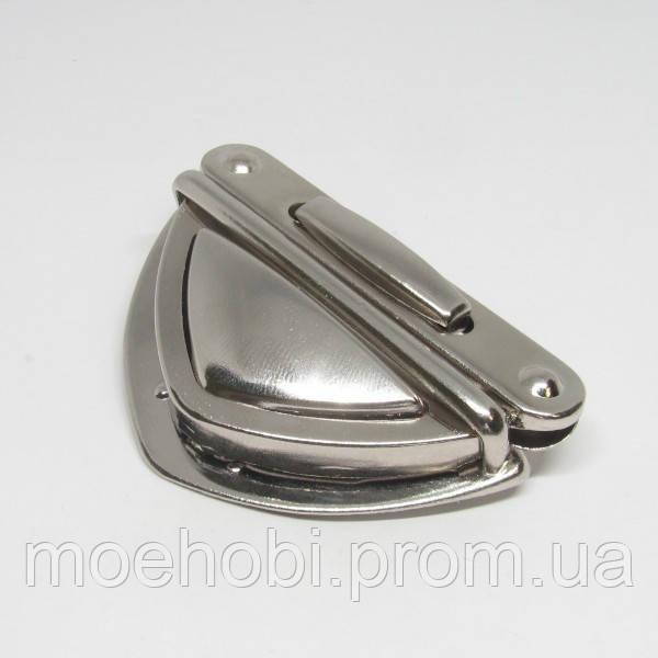 Замок для сумки никель,  Розница от 1шт/ ОПТ от 5 / артикул модели  4578