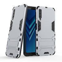 Чехол для Samsung A750 / A7 2018 Hybrid Armored Case светло-серый