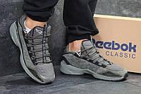 Мужские кроссовки в стиле Reebok, тёмно-зеленые 44 (28 см)