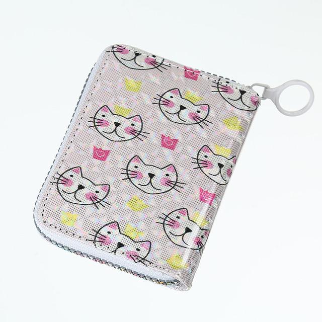 Блискучий дитячий гаманець Котики