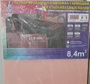Листовая подложка под ламинат, паркетную доску гармошка 1,8 мм (8,4м2)
