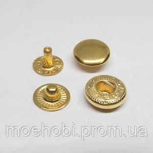 Кнопки альфа  VT-2   10мм  золото  60шт  5130