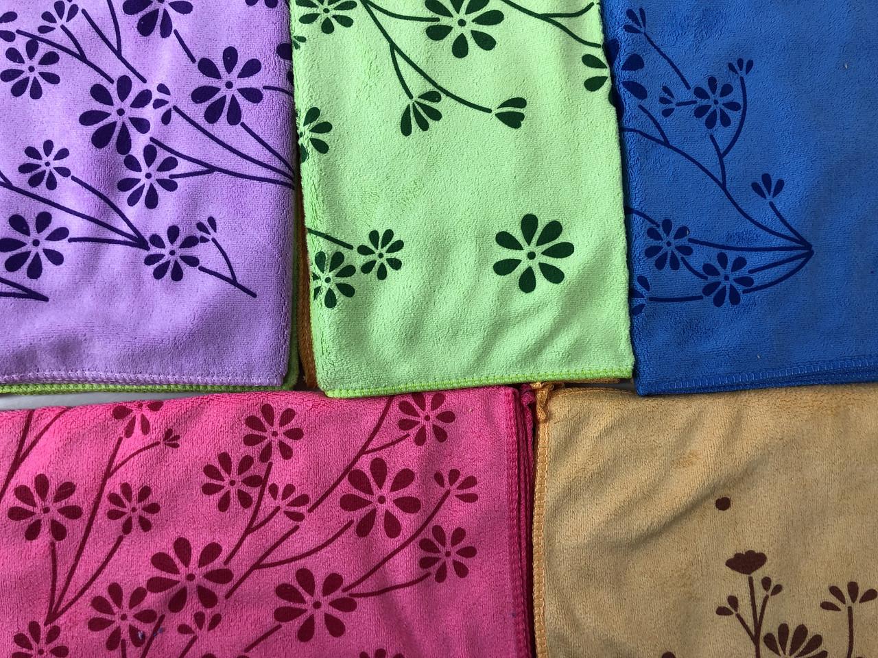 Полотенце кухня  цветок фибра