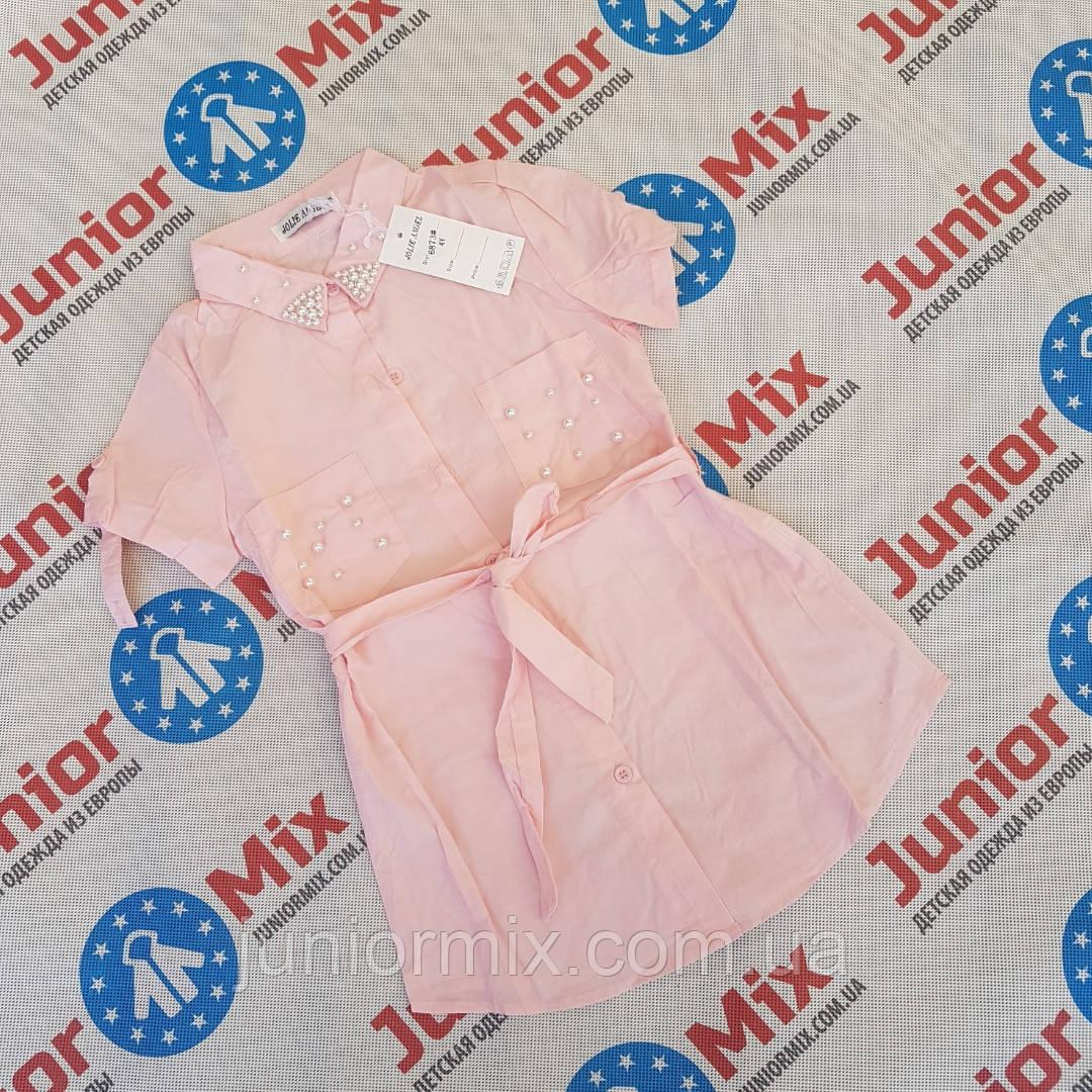 Детские х/б рубашки для девочек оптом JOLIE  ANGEL