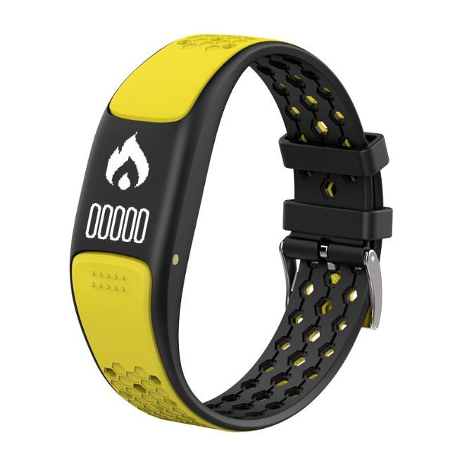 """Смарт-браслет SUNROZ P8 фітнес-трекер для плавання 0.73"""" Жовтий (SUN3885)"""