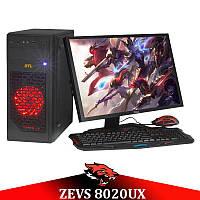 Игровой ПК для стрима ZEVS PC 8020UX i5 3570 + RX 550 4GB + Монитор 24'' + Клавиатура + Мышка + Наушники