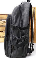 Спортивный прочный рюкзак из плотного непромокаемого материала брезента, на 3 отдела, фото 2