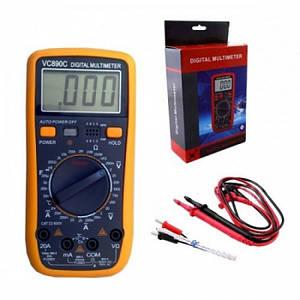 Цифровой Профессиональный мультиметр VC890C тестер вольтметр + термопара