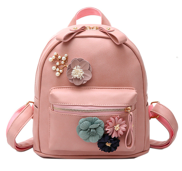 c098b123f76f Рюкзак женский кожзам с цветами Розовый - интернет-магазин МагниТ в Киеве