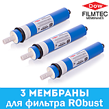 Комплект мембран FILMTEC 100 GPD - 3 шт. для фильтра RObust, фото 3