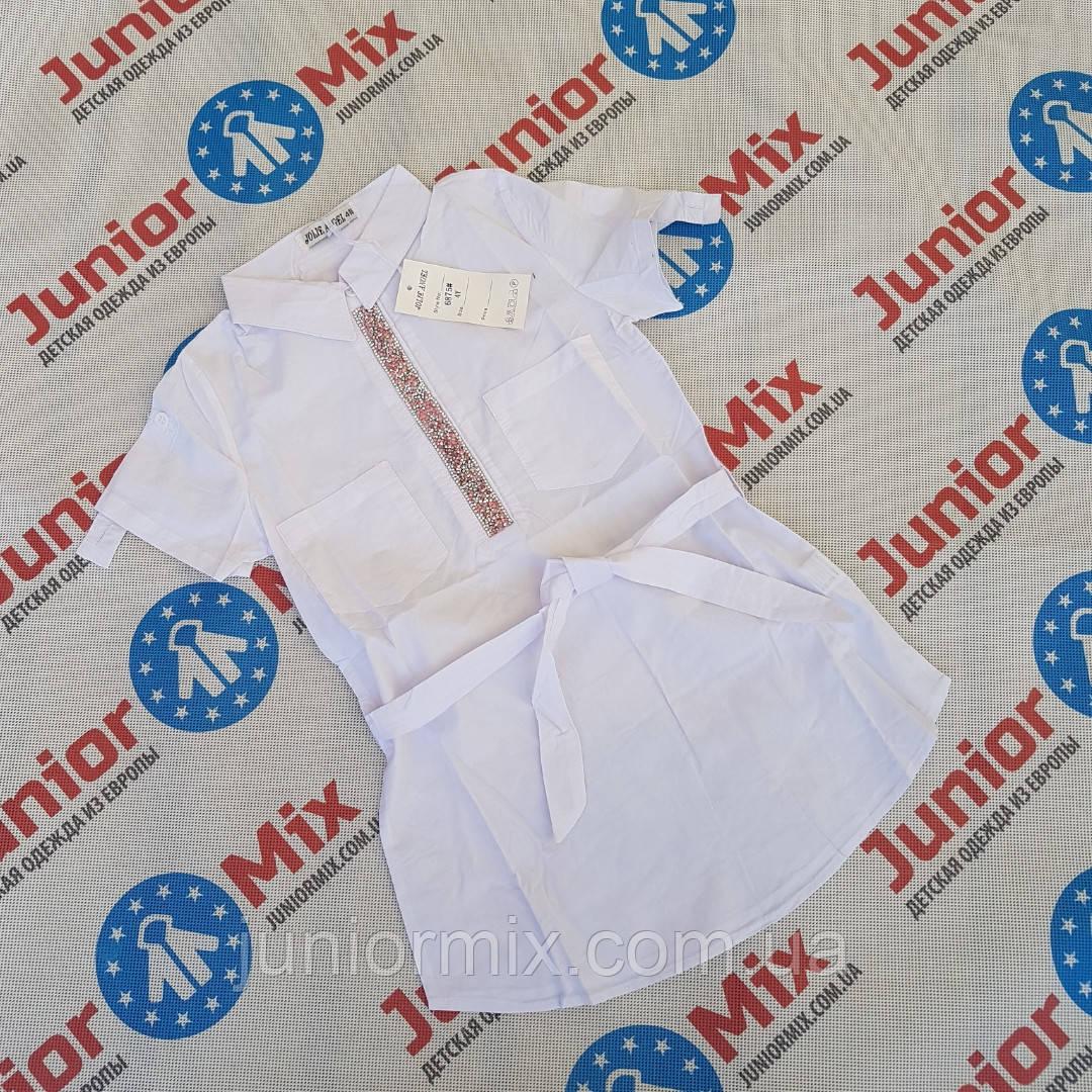 Детские удленёные  рубашки на короткий рукав для девочек  оптом JOLIE ANGEL
