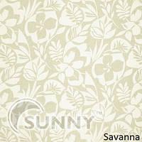 Рулонные шторы для окон в закрытой системе Sunny с плоскими направляющими - ПЛАСТИК, ткань Savanna
