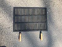 Более 50 размеров!!! 46 х 33. Чугунная решетка гриль для барбекю и мангала с ручками grill bbq