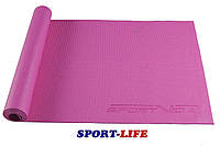 Коврик (мат) для йоги и фитнеса SportVida PVC 4 мм SV-HK0049 Pink, фото 1