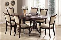 Столы, стулья, кровати, комплекты мебели из натурального дерева для спальни и гостиной от мебельной фабрики Domini