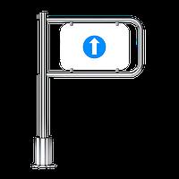 Калитка флажок механическая односторонняя  с пружинным возвратом