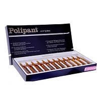 Комплекс с плацентарными и растительными экстрактами против выпадения волос POLIPANT COMPLE,12шт х 10м