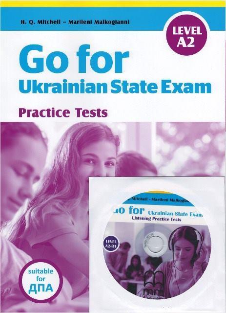 Go for Ukrainian State Exam Level A2 + CD + Listening Test (оновлений)
