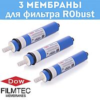 Комплект мембран FILMTEC 100 GPD - 3 шт. для фильтра RObust