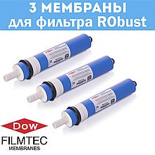Комплект мембран FILMTEC 100 GPD - 3 шт. для фільтра RObust