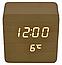 Электронные часы VST-872 в деревянном корпусе с температурой, фото 5