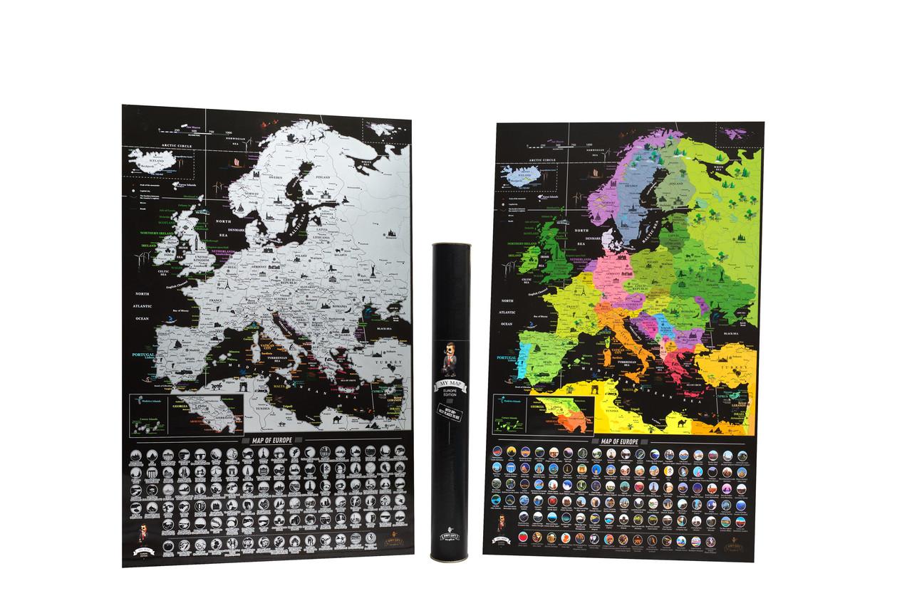 Чорна скретч карта Європи - Europe Black Edition (My Map)