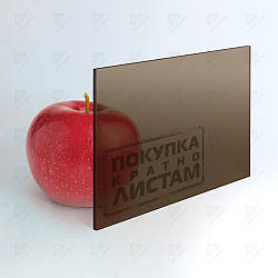 Монолитный поликарбонат Plexicarb, бронза 36%, лист 2.05 х 3.05 м, 1UV, 5 мм