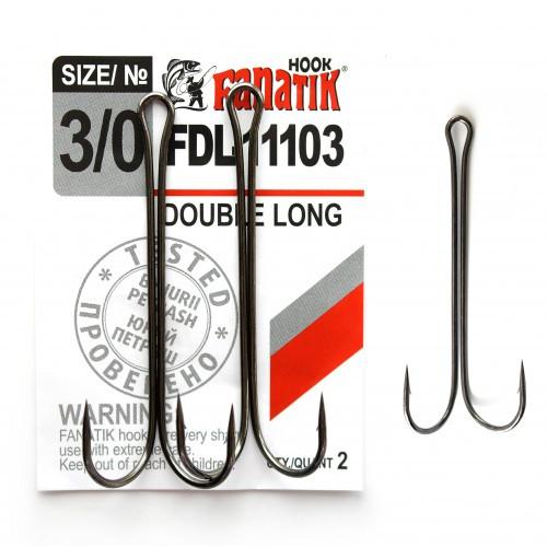 Крючок Fanatik двойной FDL-11103 №3/0