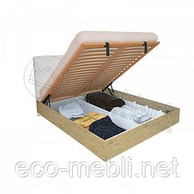 Двоспальне ліжко 160х200 мяка спинка з підйомним механізмом у спальню Верона Міромарк