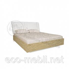 Двоспальне ліжко 180х200 мяка спинка без каркасу у спальню Верона Міромарк