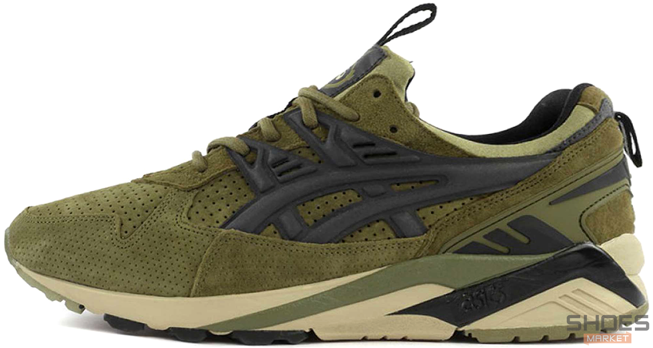 new concept 76aa6 4e330 Мужские кроссовки Asics Gel Kayano x Footpatrol Trainer Green H42UK-8690